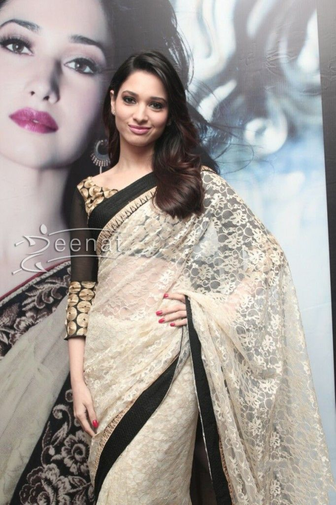 Tamanna Bhatia in designer Indian Saree