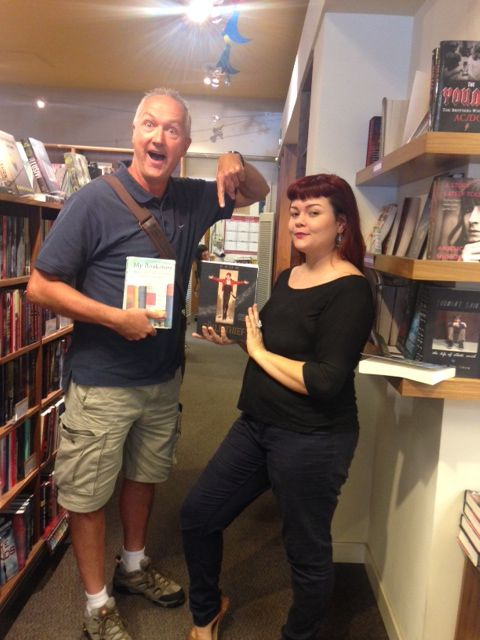 """Bob dropped by today as part of his cross country quest to visit all the bookstores listed in """"My Bookstore"""" edited by Ronald Rice!  Thanks for your support, Bob!"""