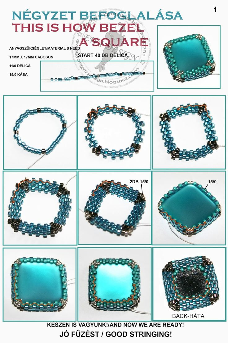 Ewa beaded World: Include Square / This is how the square bezel