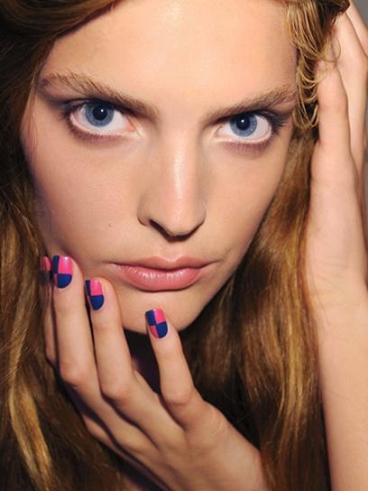 Bold and Bright Summer Nails: Beauty: teenvogue.com: Teen Vogue, Bold Summer, Nails Art, Checkered Nails, Beautiful Nails, Bright Summer Nails, Checkered Design, Retro Ch Checkered, Check Nails