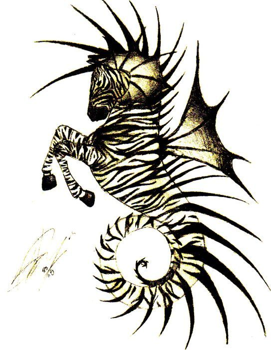 Sea Zebra, Shawna T. Delpazir, SciFi Fantasy Art
