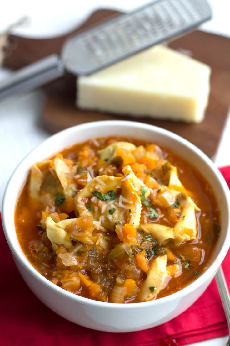 Quick & Hearty Tortellini Vegetable Soup - Erren's Kitchen - This recipe is filling meal that's packed with flavor and healthy ingredients!