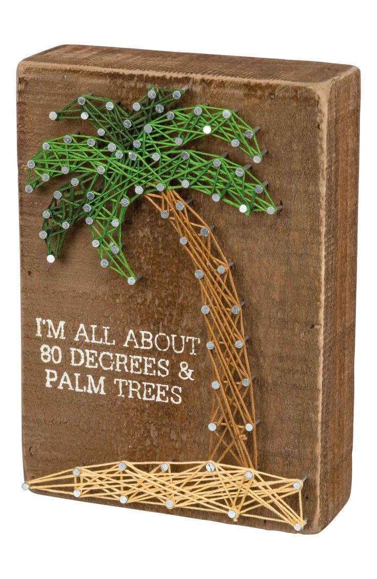 Main Image – Primitives by Kathy 80 Degrees & Palm Trees String Art