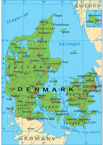 Denmark - a very close DNA population match for my mom was found in Denmark! Reading the early history of England gave us some clues as to why she matched the Danish people so closely!