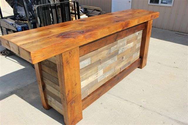 Custom Bar Made From Reclaimed Barn Wood Available From