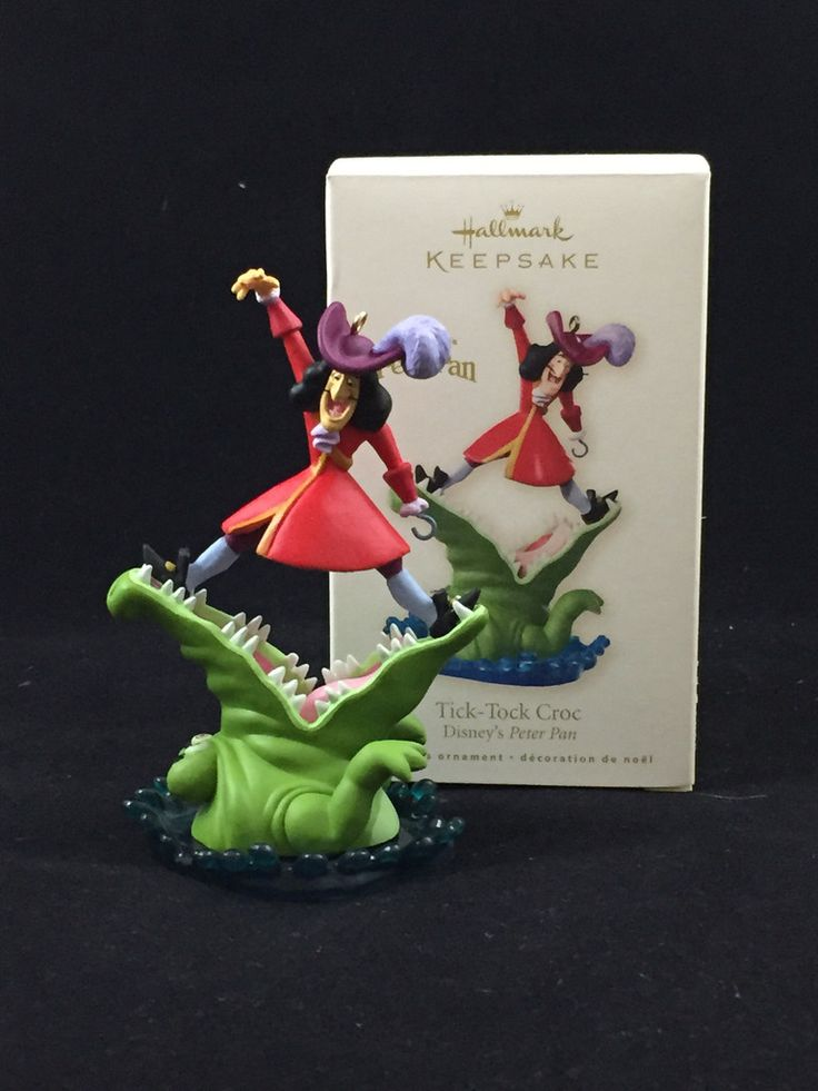 Captain Hook & Tic-Tock (Peter Pan) Hallmark Holiday Ornament