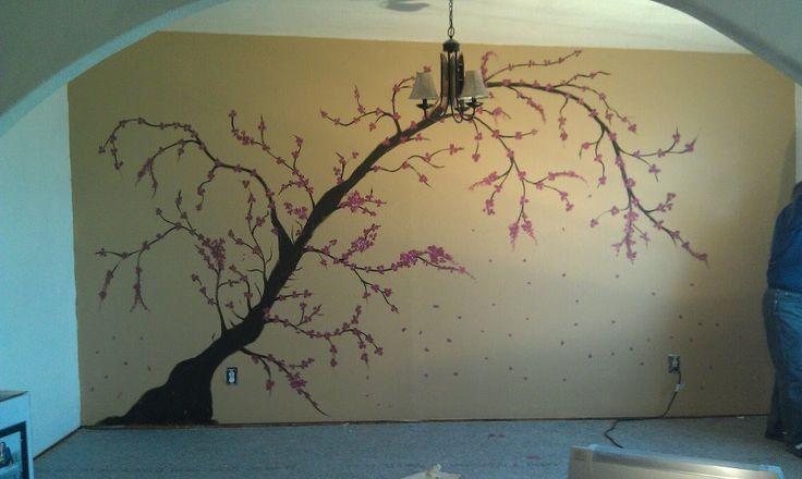 Cherry Blossoms Wall Mural Craft Ideas Pinterest