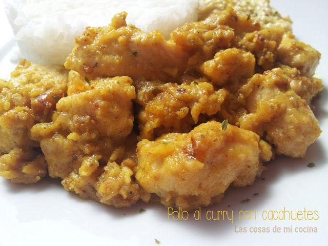 Pollo al curry con cacahuetes