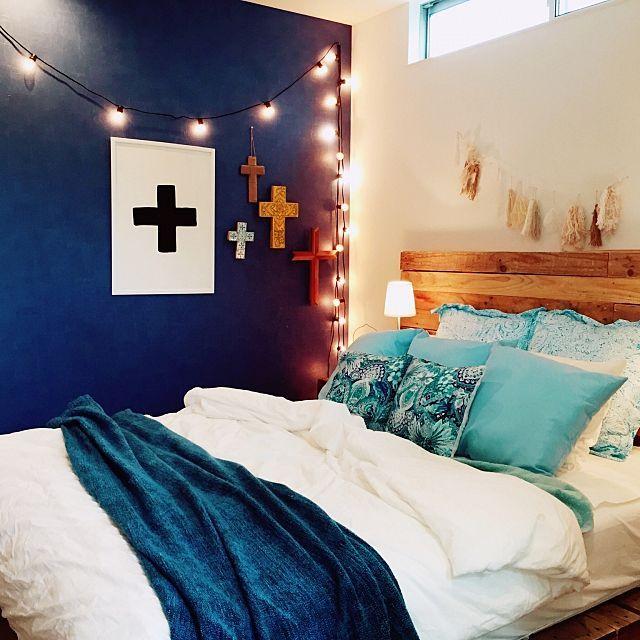 aさんの、Bedroom,照明,IKEA,寝室,ZARA HOME,西海岸,jurafurniture,ここで寝てますについての部屋写真