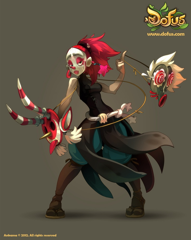 She's a lady of many faces, she's the female Masqueraider! #dofus