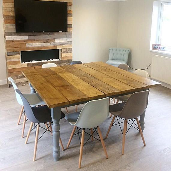 dining table country dining table rustic dining table 1.5mx1m (seats 6 comfortably) £200.