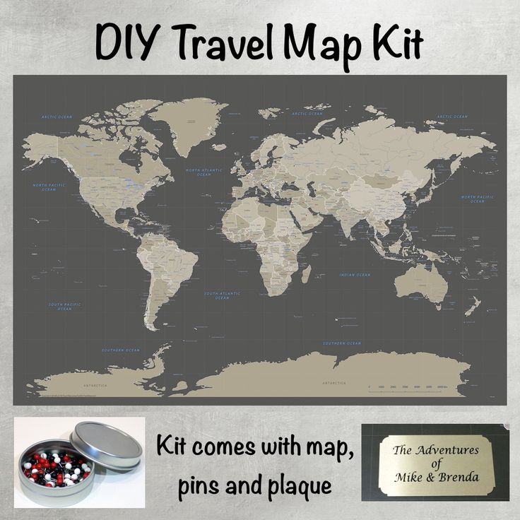 World Travel Map Pin Board wPush Pins Rustic Vintage – Push Pin World Travel Map