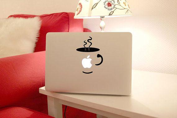 macbook decal cup macbook decal mac pro by creativedecalskin, $5.99