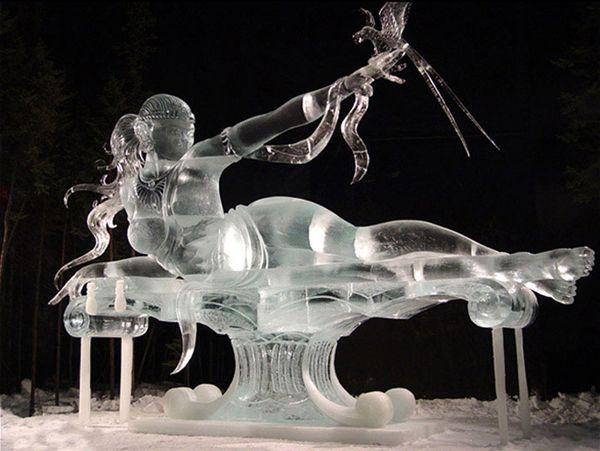 alaska ice sculptures -