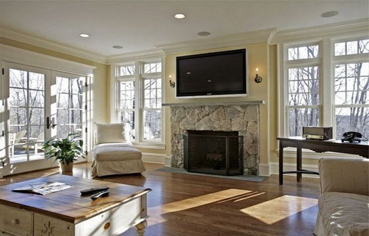 The gallery for contemporary stone fireplace designs for Modern stone fireplace ideas