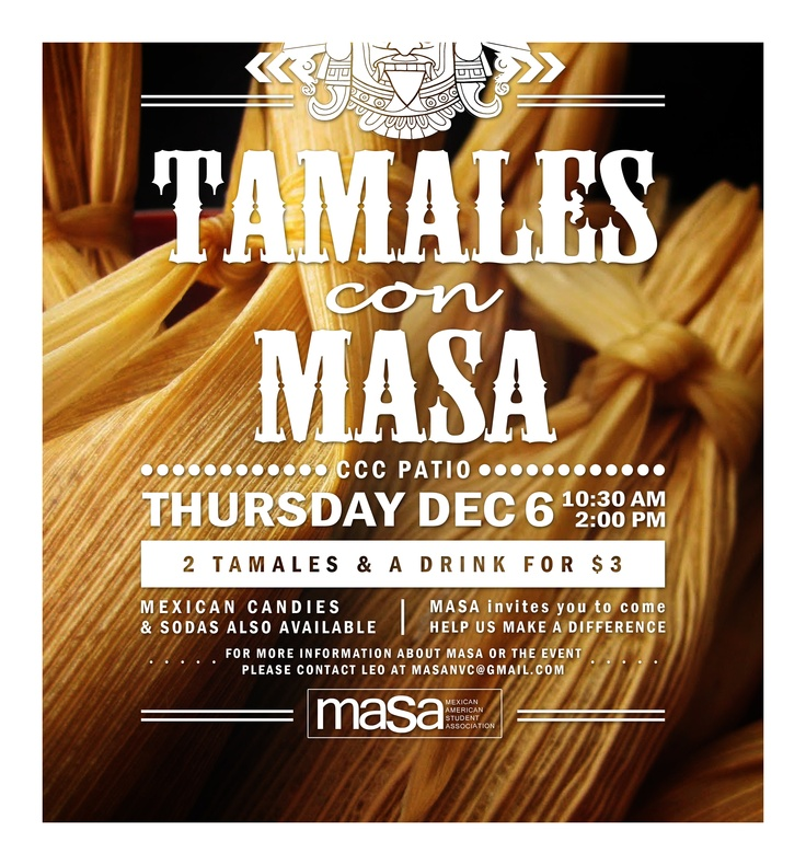 flyer for masa tamale sale at northwest vista college