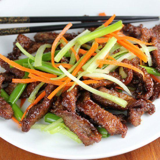 Beef a La Sichuan