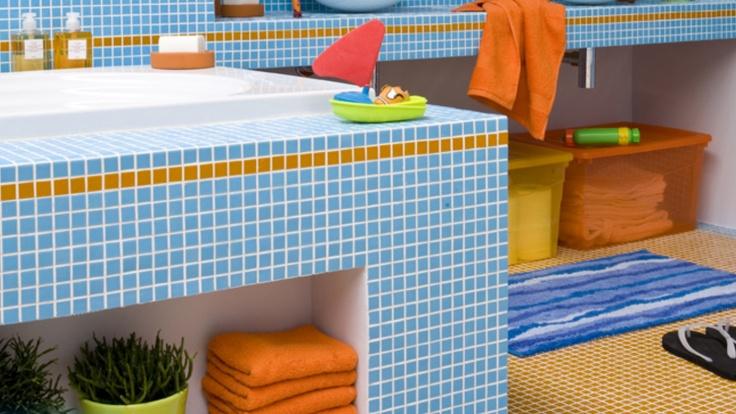 Un bagno bello e colorato!