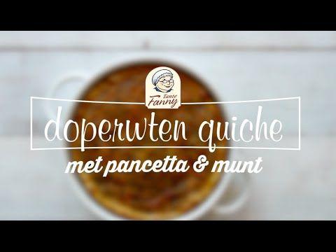 Quiche met doperwten, Pancetta en munt