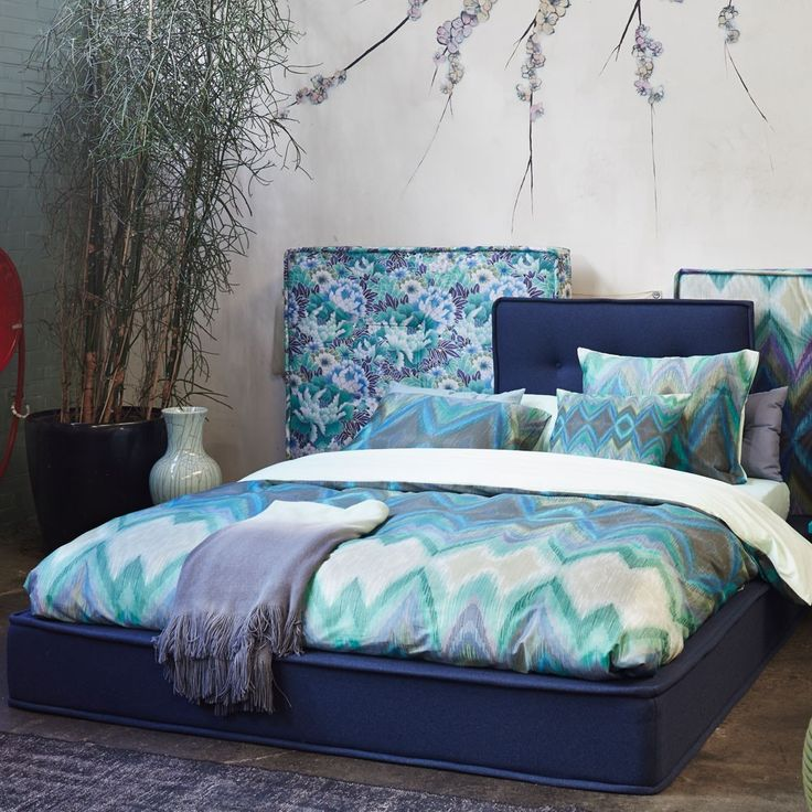 Essenza Mako-Satin Bettwäsche Kyo blue online kaufen