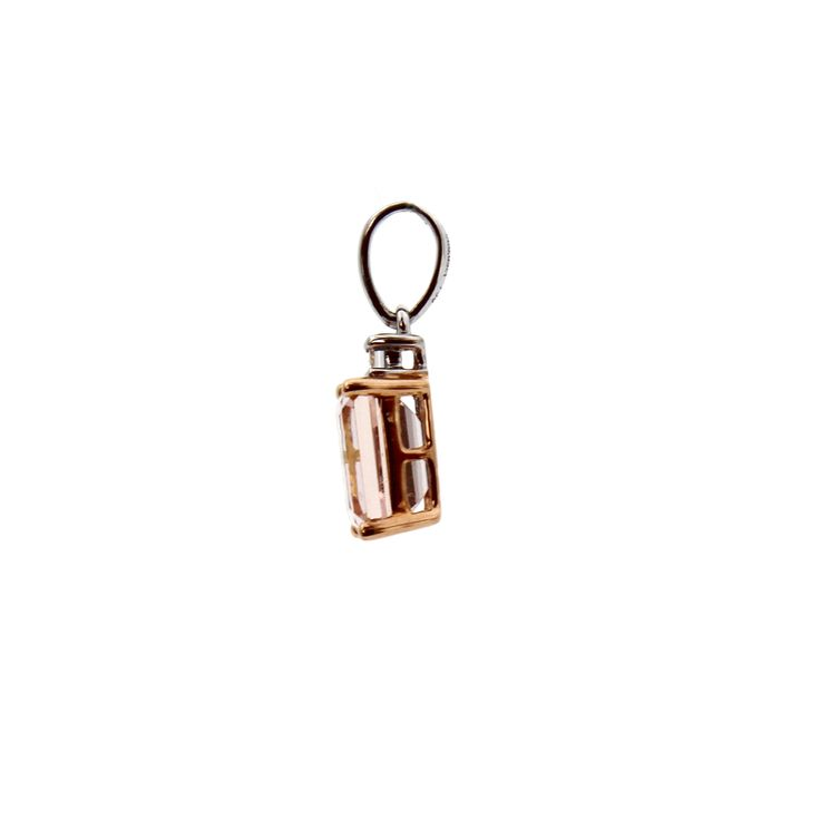 LA VIE EN ROSE PENDANT | Total carat weight of Morganite 1.05cts, Diamonds 0.04cts