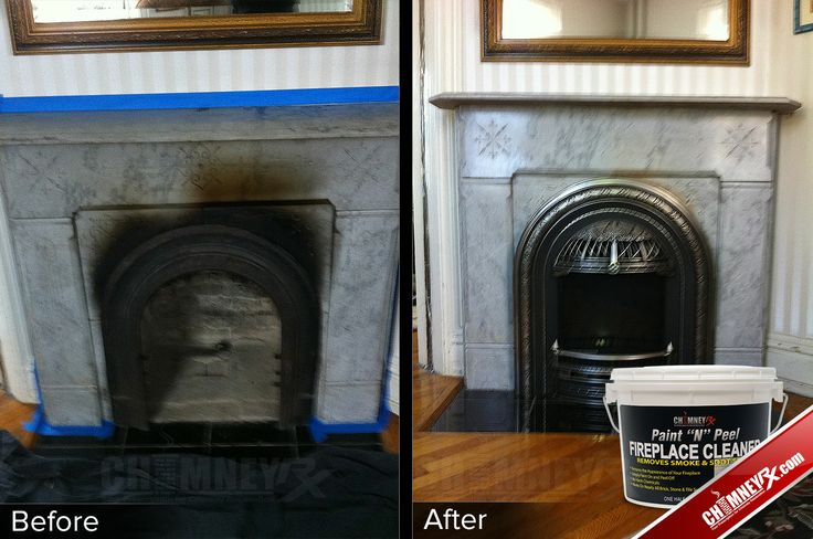 how to clean fireplace soot from walls