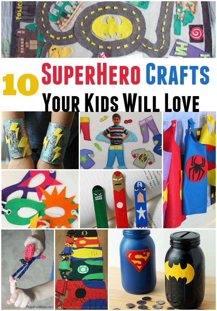 10 superhero crafts your kids will love superhero for Arts and crafts ideas for couples