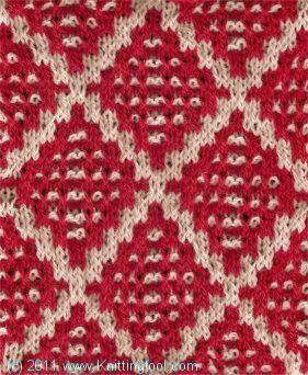 Dotted Diamond #knitting #stitch
