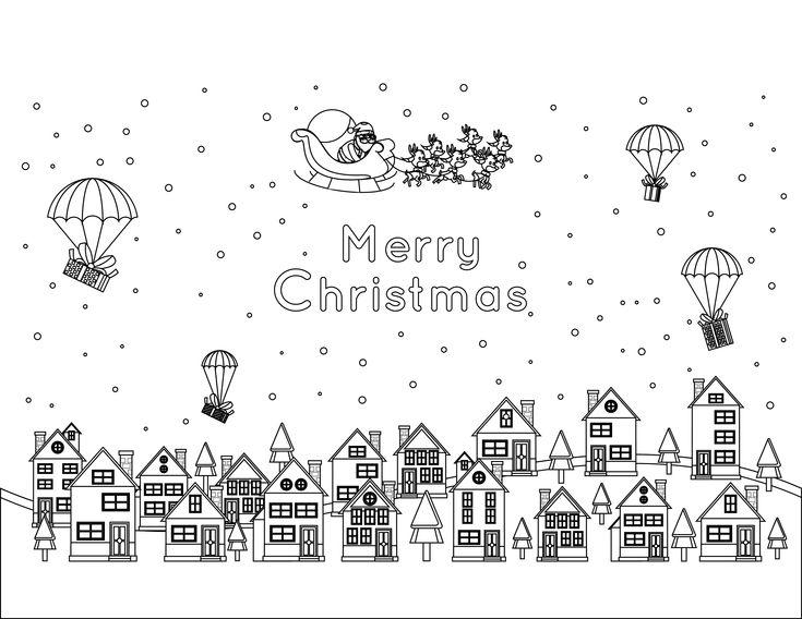 56 best coloriage de no l christmas coloring page images - Pere noel a colorier ...