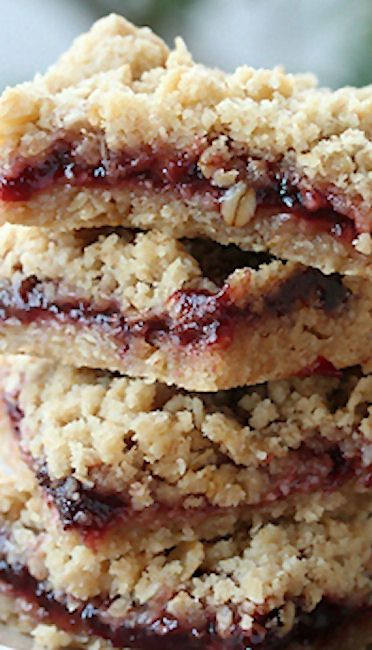 Oatmeal Cherry Jam Bars--So good and so easy--I use amounts from an allrecipes version that's a 9X13 but with these ingredients.