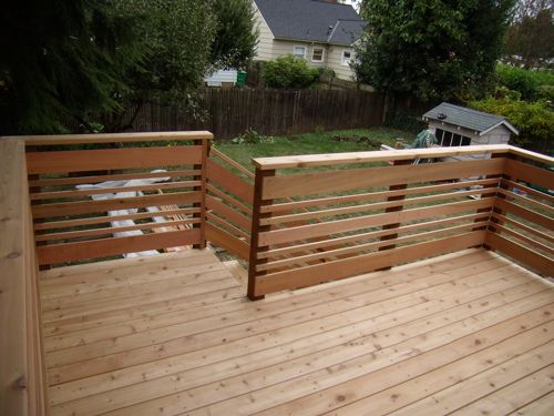 horizontal deck rail