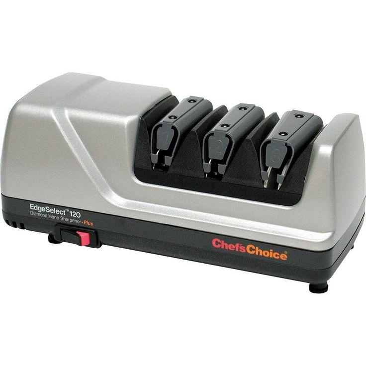 Chef'sChoice® - Diamond Hone EdgeSelect Electric Knife Sharpener - Platinum (White), 120