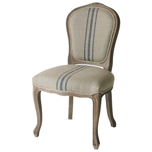 Adelaide Chair: http://www.maisonsdumonde.com/UK/en/produits/fiche/linen-and-solid-oak-chair-in-beige-and-blue-adelaide-124248.htm