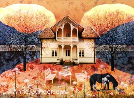 """Landskap i orange/Landscape i Orange"""