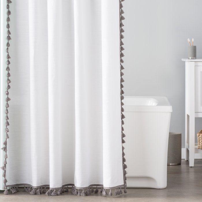 Essentials 100 Cotton Tassel Shower Curtain In 2020 Shower
