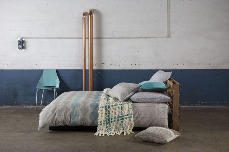 KAS ROOM - MOKO. Get into the groove with the Moko quilt set from the new KAS Room range. The nature inspired pattern is printed onto a luxurious linen cotton blend, with a cotton percale reverse. Don't miss out on the matching european pillow cases, also available.