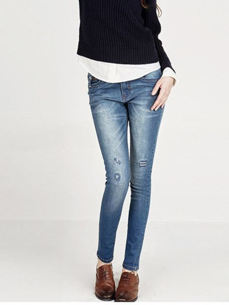 Casual Washed-silk Denim Tapered pants