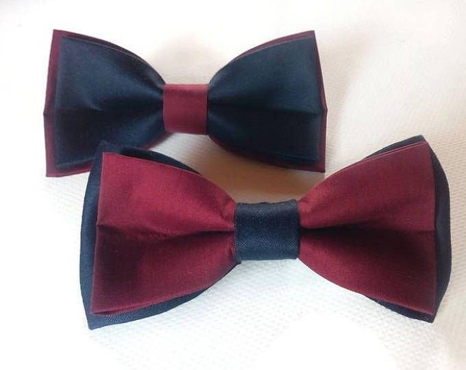 b5889cbdf354a burgundy navy set of bow ties groomsmen bowties wedding in navy burgundy  colors ring bearer outfit boys outfit groom bow tie for wedding set