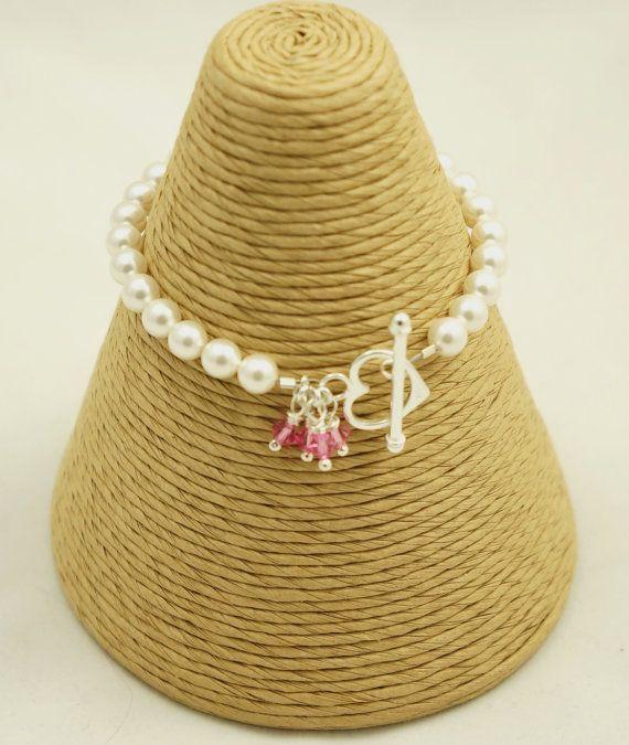 Pearl Bracelet  Swarovski Pearl & Swarovski by Makewithlovecrafts, £23.25