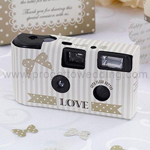 Wedding Camera chic con pois e fiocchetti color oro. € 5,50 Incluso con ogni wedding camera troverete un cartoncino con le istruzioni in Inglese.