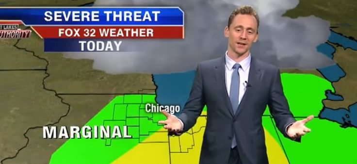 Tom Hiddleston does the Weather. Watch him here