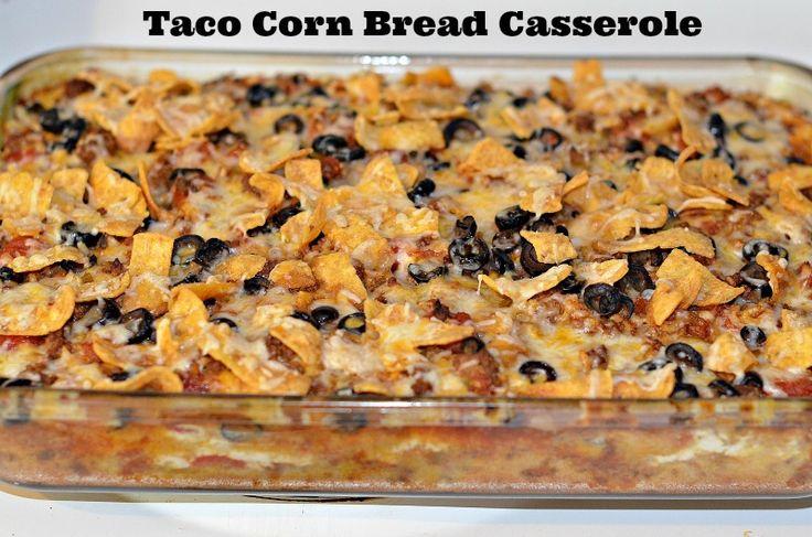 Taco Corn Bread Casserole Recipe