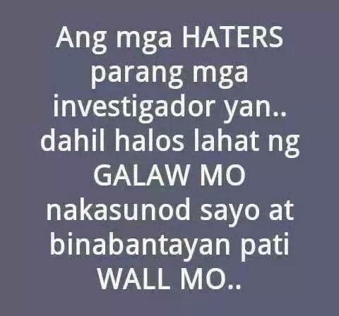 Quotes About Haters Tumblr Tagalog 17 Best images ...