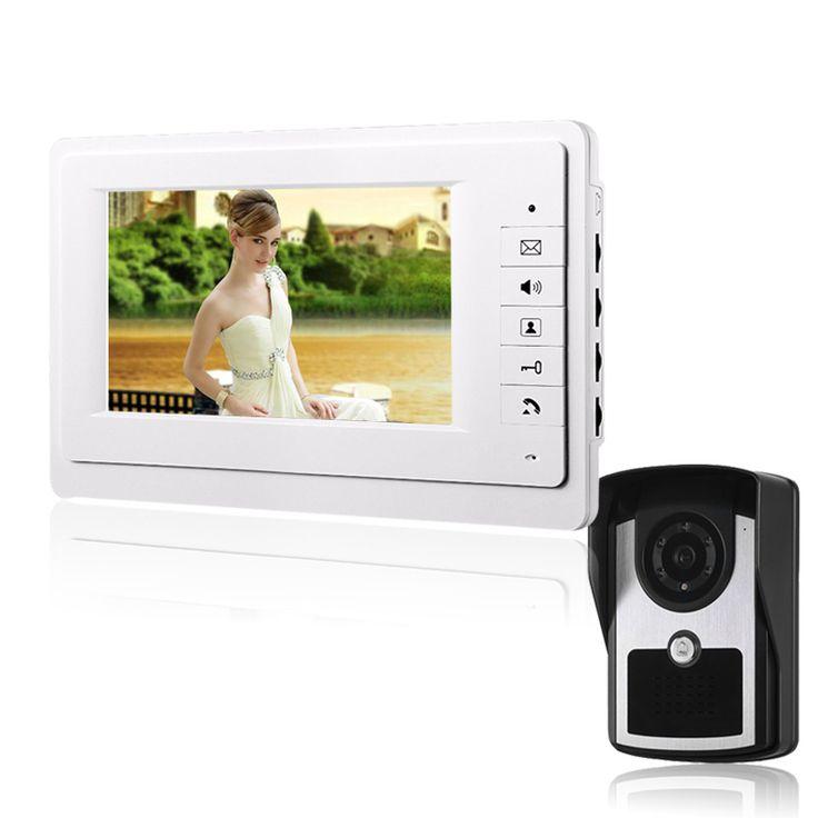На Большие Продажи 7 ''TFT ЦВЕТНОЙ Видео-телефон двери Интерком Дверной Звонок Система Комплект ИК-Камеры монитор домофона Громкой домофон