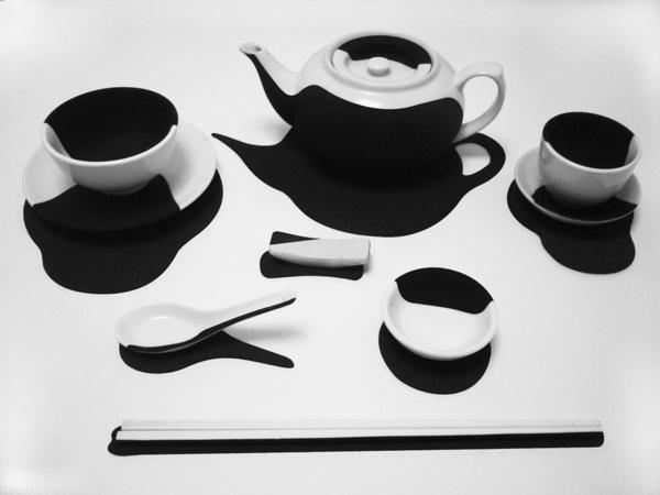 Shadow - Chinese Tableware Set by Sherman Pang, via Behance