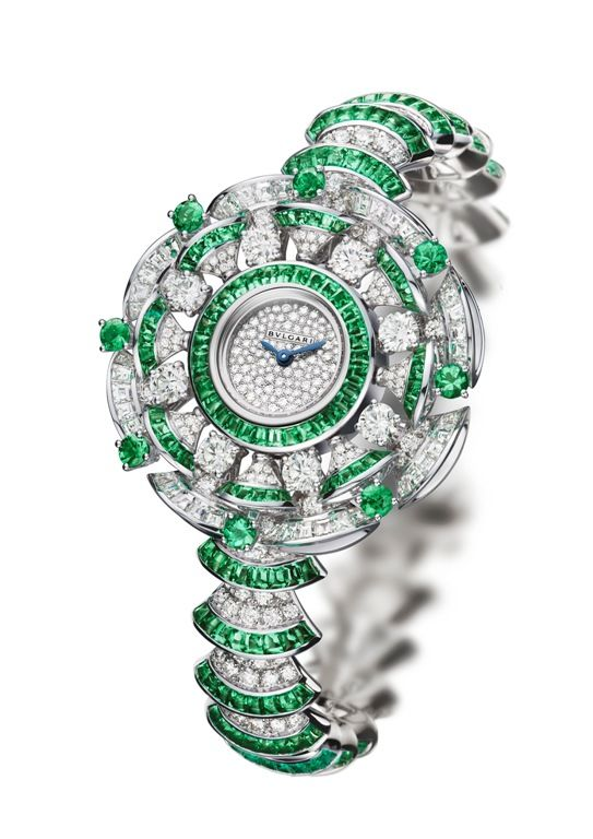 Relógio de joalheria: Bulgari, Diva High Jewellery Emeralds