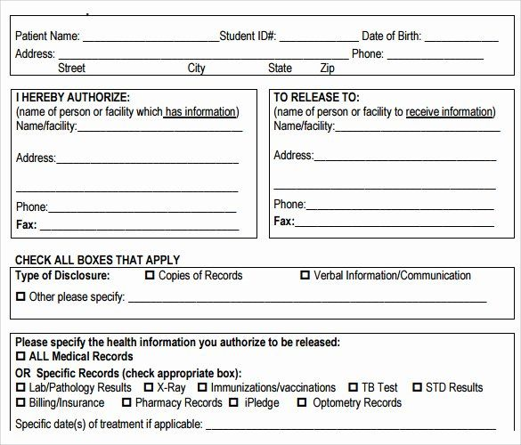 Medical Records Form Template Inspirational 10 Medical Records Release Forms To Download Medical Records Medical Journals Health Journal