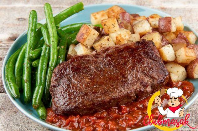 Resep Steak Sirloin, Hidangan Organik Ala Resto, Club Masak