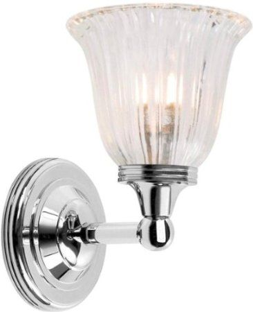 Elstead Lighting BATH/AUSTEN1 PN Polished Nickel Austen1 One Light Modern Bathroom Wall Sconce With Glass: Amazon.co.uk: Lighting
