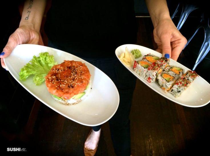 Salmon Ritz Tartare and California Special Maki! Yummy!  www.sushietc.it